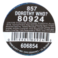 CG Dorothy Who label.png